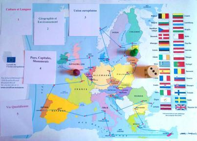 Carte De Leurope Avec Ses Capitales.Evenements